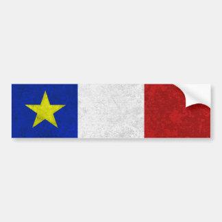 Flagga av bekymrad Grunge för Acadia Bildekal