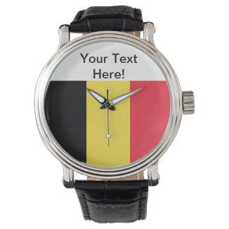 Flagga av Belgien Armbandsur