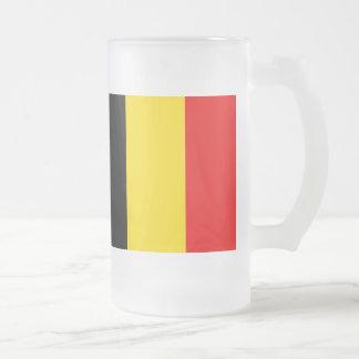 Flagga av Belgien Frostat Ölglas
