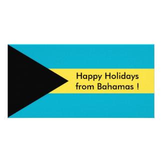 Flagga av Belize, glad helg från Bahamas Fotokort