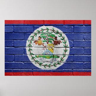 Flagga av Belize Poster