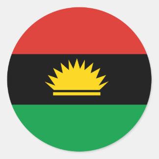 Flagga av Biafra (Bịafra) Runt Klistermärke
