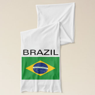 Flagga av Brasilien Bandeira gör Brasil Sjal