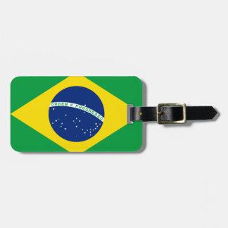 Flagga av Brasilien, brasilian Bagagebricka