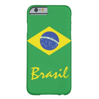Flagga av Brasilien med infödd text Barely There iPhone 6 Skal