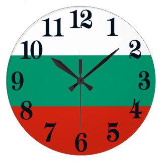 Flagga av Bulgarien eller bulgaren Stor Klocka