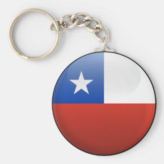 Flagga av Chile Rund Nyckelring
