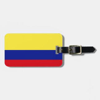 Flagga av Colombia Bagagebricka