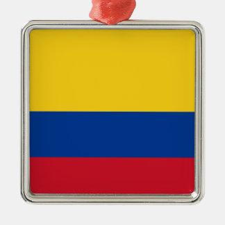 Flagga av Colombia - Bandera de Colombia Julgransprydnad Metall