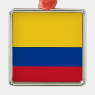 Flagga av Colombia Julgransprydnad Metall