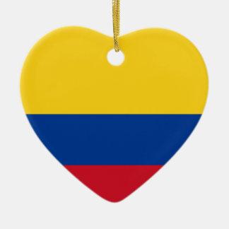 Flagga av Columbia, republik av Colombia Julgransprydnad Keramik
