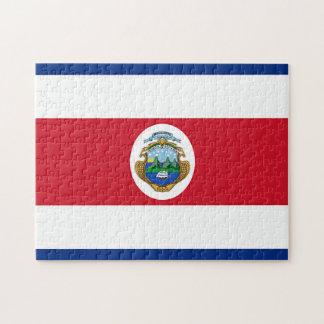 Flagga av Costa Rica Pussel
