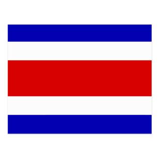 Flagga av Costa Rica Vykort