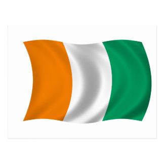 Flagga av Cote d'Ivoire - elfenbenkusten Vykort