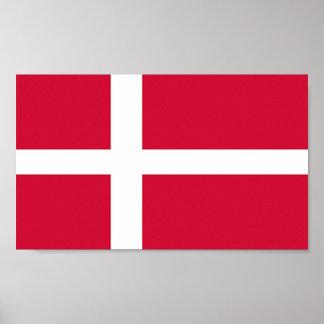 Flagga av Danmark Affisch