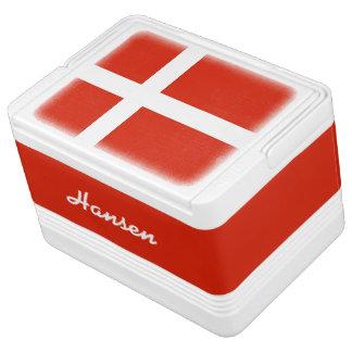 Flagga av Danmark, Dannebrog! Tillfoga ditt namn! Igloo Frysväska