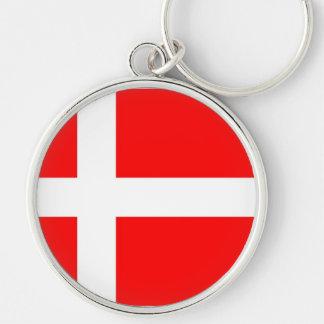 Flagga av Danmark Nyckel Ringar
