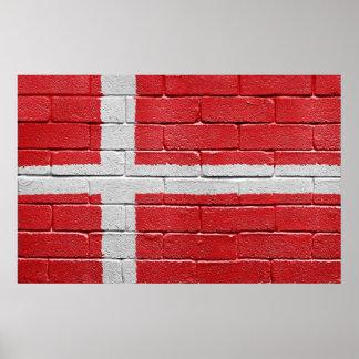 Flagga av Danmark Poster