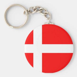 Flagga av Danmark Rund Nyckelring
