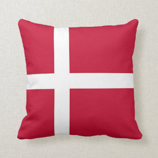 Flagga av Danmark - skandinavkor Prydnadskudde