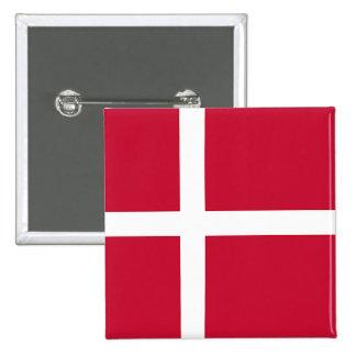Flagga av Danmark - skandinavkor Standard Kanpp Fyrkantig 5.1 Cm