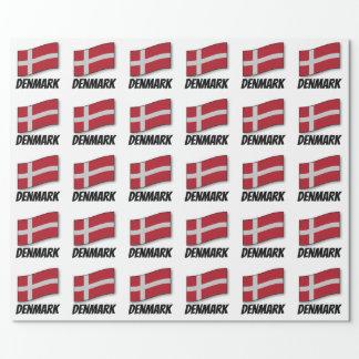 Flagga av Danmark som märks Presentpapper
