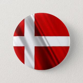 Flagga av Danmark Standard Knapp Rund 5.7 Cm