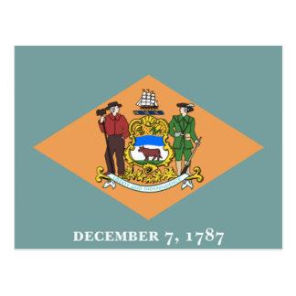 Flagga av Delaware Vykort