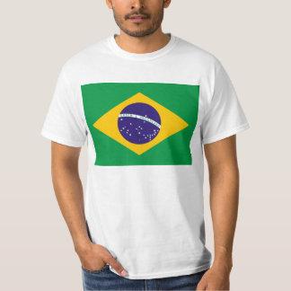 Flagga av den Brasilien T skjortan Tshirts