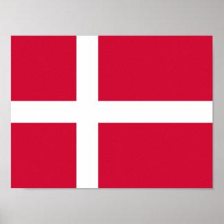 Flagga av den Danmark affischen Poster
