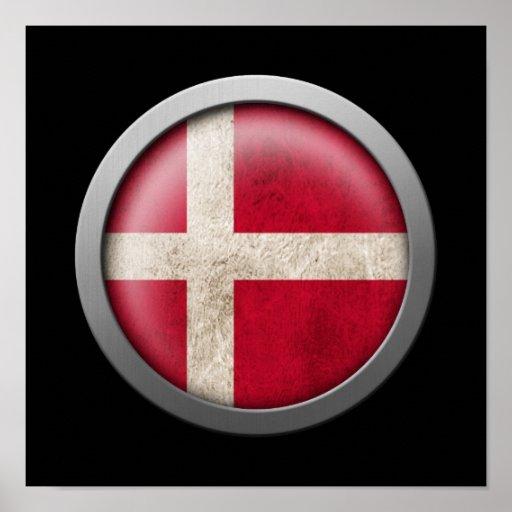 Flagga av den Danmark disketten Affisch