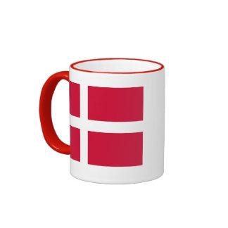 Flagga av den Danmark kaffemuggen Ringer Mugg
