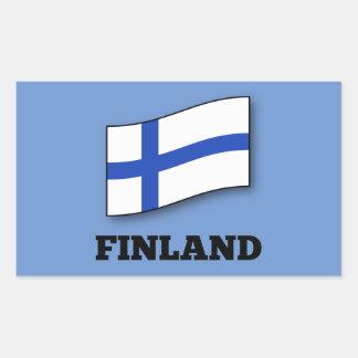 Flagga av den Finland designen Rektangulärt Klistermärke