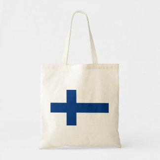 Flagga av den Finland - Suomen lippuen - Finlands Budget Tygkasse
