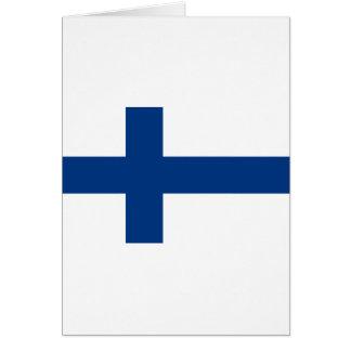 Flagga av den Finland - Suomen lippuen - Hälsningskort