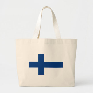 Flagga av den Finland - Suomen lippuen - Jumbo Tygkasse