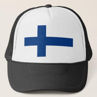 Flagga av den Finland - Suomen lippuen - Truckerkeps