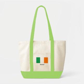 Flagga av den Irland totot hänger lös Tygkasse