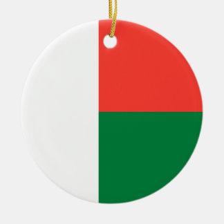 Flagga av den Madagascar prydnaden Julgransprydnad Keramik