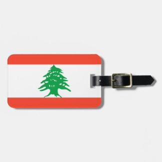 Flagga av den personliga Libanon lätta Bagagebricka