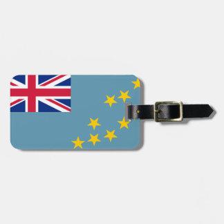 Flagga av den personliga Tuvalu lätta Bagagebricka