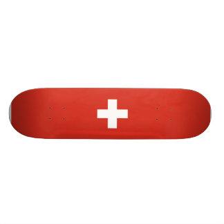 Flagga av den Schweitz skateboarden Mini Skateboard Bräda 18,7 Cm