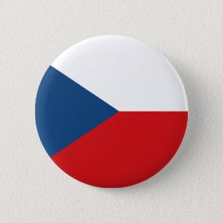Flagga av den tjeckiska republiken standard knapp rund 5.7 cm