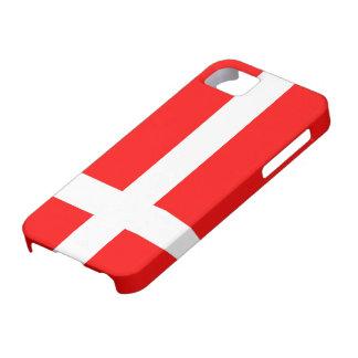 Flagga av den tuffa iPhonen för Danmark iPhone 5 Case-Mate Skydd