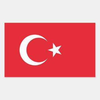 Flagga av den Turkiet dekalklistermärken Rektangulärt Klistermärke