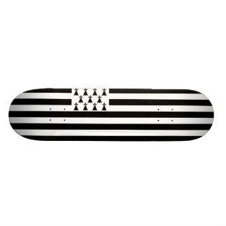 Flagga av det Brittany Skateboarddäcket Mini Skateboard Bräda 18,7 Cm
