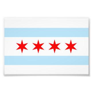 Flagga av det Chicago fototrycket Fototryck