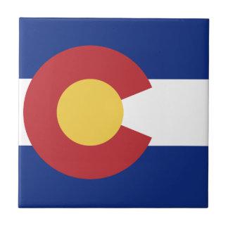 Flagga av det statligt av Colorado Kakelplatta