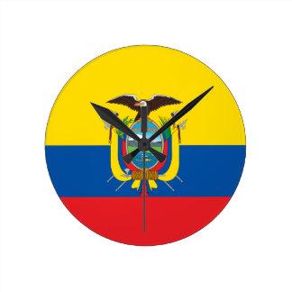 Flagga av Ecuador - Bandera de Ecuador Rund Klocka