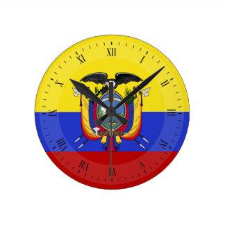 Flagga av Ecuador Rund Klocka